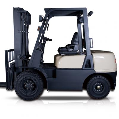 Diesel forklift with stocks